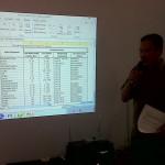 Bambang Priyanto, Sekretaris Badan Pemberdayaan Masyarakat Kabupaten Malang hadir di hari pertama pelatihan pemetaan sosial di Desa Kucur Malang