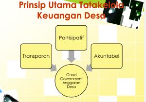 Prinsip utama pengelolaan keuangan desa. sumber: Roy Salam