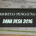 Prioritas Penggunaan Dana Desa 2016