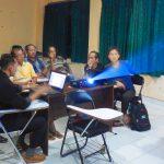 Budhi Hermanto dan Tim Pembaharu Desa Macang Sakti Sedang Berdiskusi tentang RKP Desa